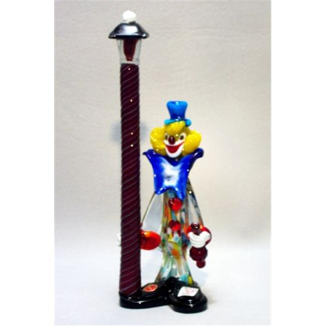 Belco FP-1600 Murano Glass Clown with Lamp Post