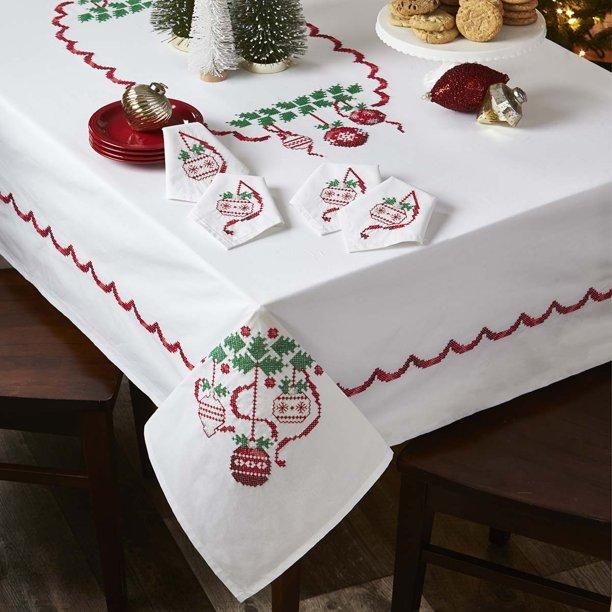 Deck The Halls Tablecloth Thread Kit Walmart Com Walmart Com