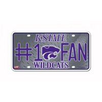 NCAA Kansas State Wildcats 1 Fan Metal Tag