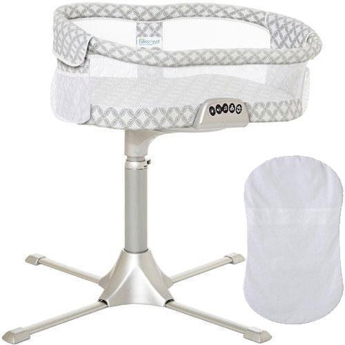 Halo - Swivel Sleeper Bassinet  Premiere Series with 100  Cotton Fitted Sheet -
