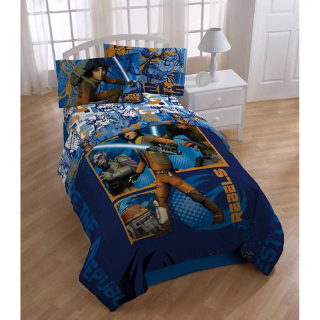 Star Rocket Twin Comforter - Star Wars Rebels Twin/Full Bedding Comforter