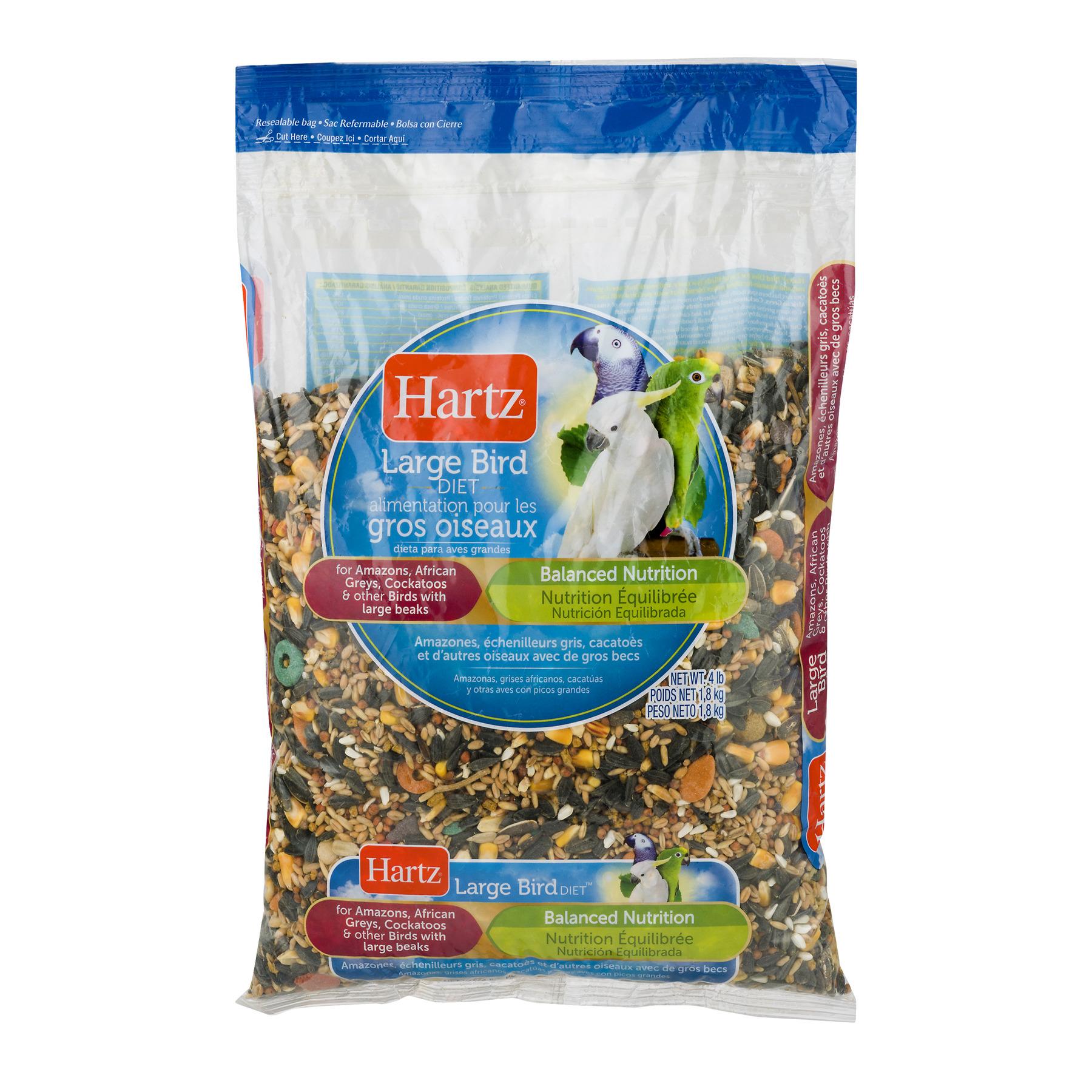 Hartz Large Bird Diet Balanced Nutrition, 4.0 LB by The Hartz Mountain Corporation