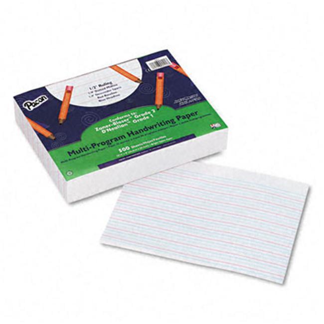 Pacon 2421 Multi-Program Handwriting Paper  Grades 1/2  1/2   Rule  White  500 Sheets/Ream