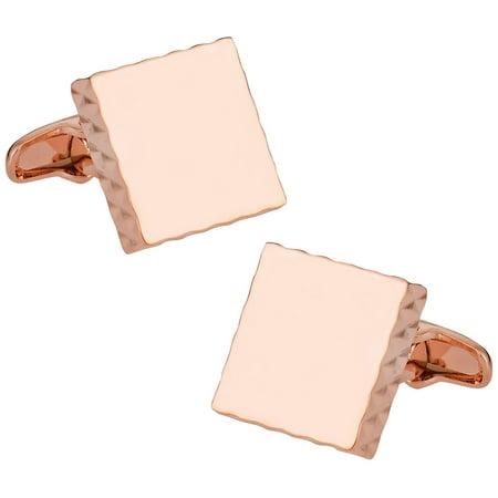 Edge Cufflinks (Diamond Edge Rose Gold Cufflinks by Cuff-Daddy )