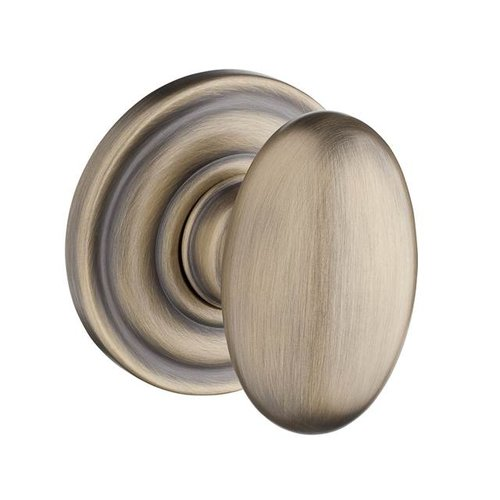 Baldwin Ellipse Privacy Door Knob with Traditional Round Rose