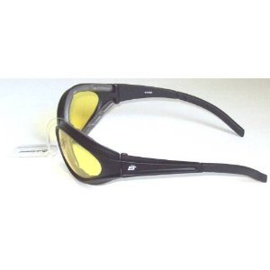 Motorcycle Yellow Riding Glasses Sunglasses with Foam Padding Uv400 Anti Fog Also Great for Paintball Because the Padding Keeps Sweat out of Your Eyes (Foam Paintballs)