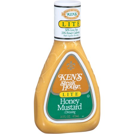 Kens Steak House Lite Honey Mustard Dressing  16 Fl Oz
