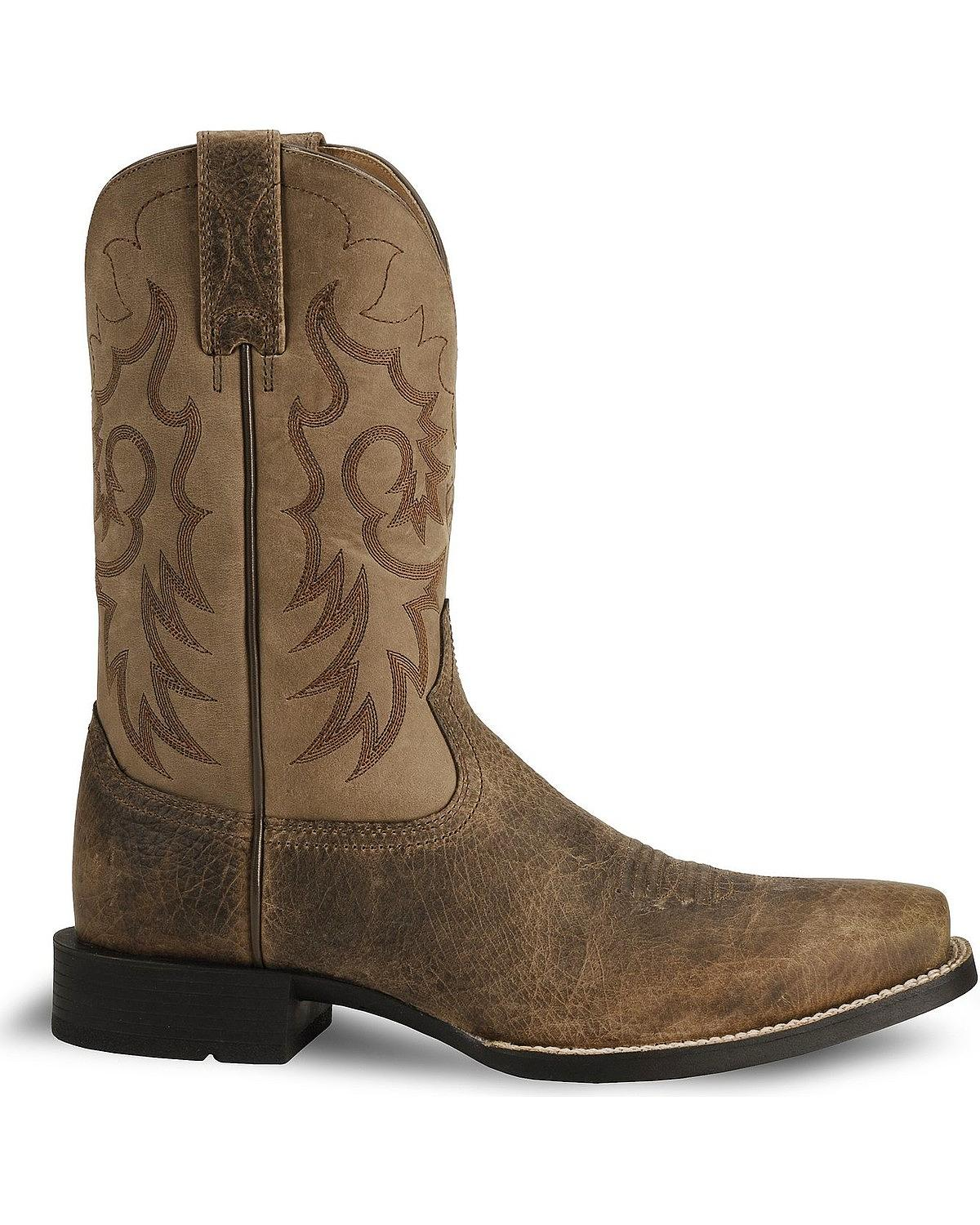 bf86f89a865 Ariat - Ariat Men's Heritage Reinsman Cowboy Boot Square Toe ...