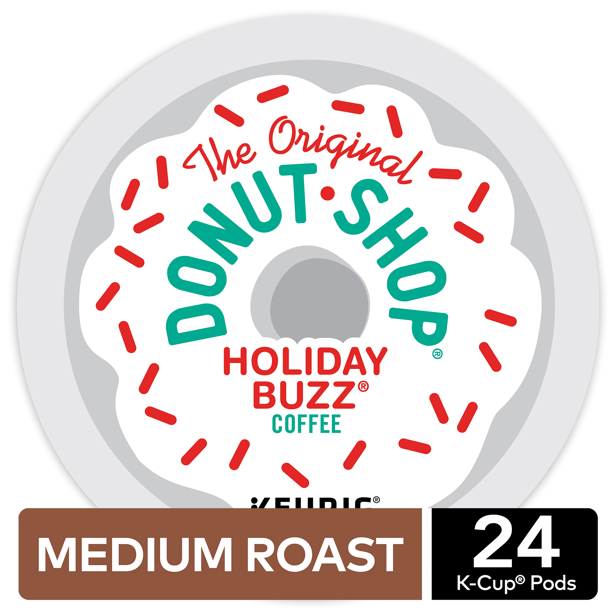 The Original Donut 7072彩票官网 Holiday Buzz K-Cup Coffee Pods, Medium Roast, 24 Count for Keurig Brewers