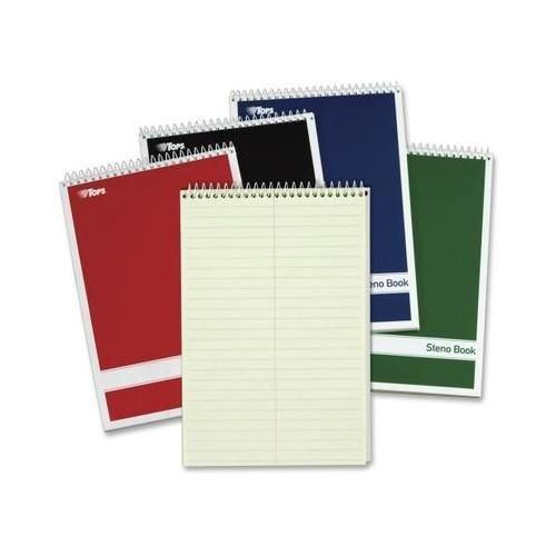 Steno Book w/Assorted Colored Covers TOP80221