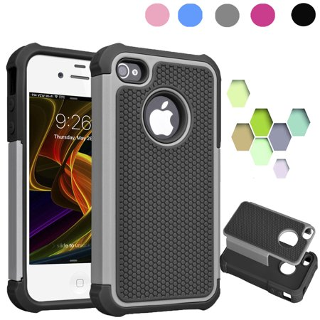 Iphone 4s Case 4 Gray Shock Absorbing Impact