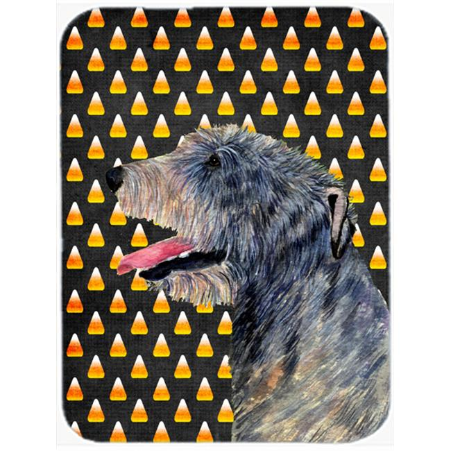 Carolines Treasures SS4299LCB 15 x 12 in. Irish Wolfhound Candy Corn Halloween Portrait Glass Cutting Board - Large - image 1 of 1