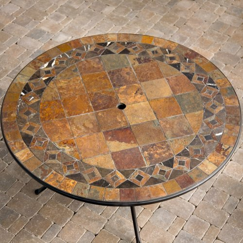 Palazetto Lucca 60 in. Mosaic Patio Dining Table