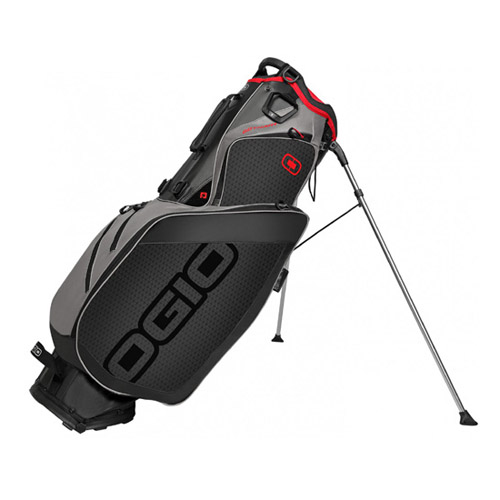 New Ogio Gotham Stand Bag - Black / Gray