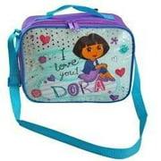 Lunch Bag - Dora the Explorer - w/Strap Sequin Underlay Silver Girls 288004