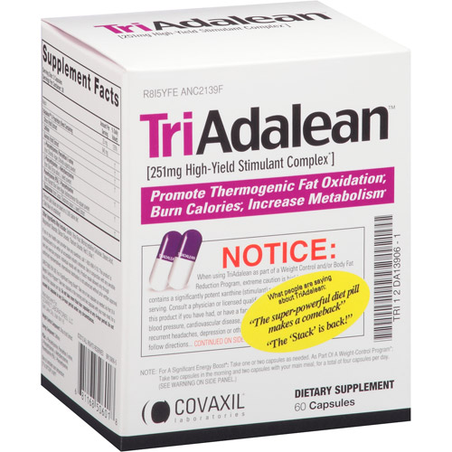 Triadalean High Yield Stimulant Complex Capsules Dietary Supplement, 60 count