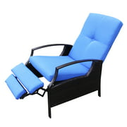 Best  - Outsunny Outdoor Rattan Recliner Chair With Cushion Review