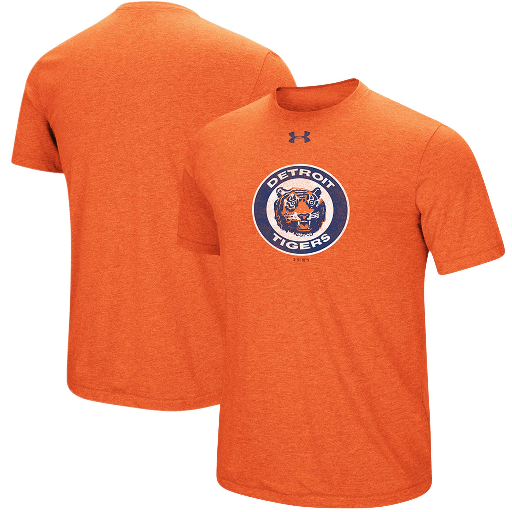 Detroit Tigers Under Armour Cooperstown Collection Mark Performance Tri-Blend T-Shirt - Heathered Orange