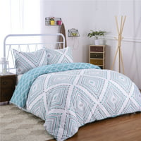 3-Piece Geometric Printed Duvet Cover Set , Multiple Colors and Sizes