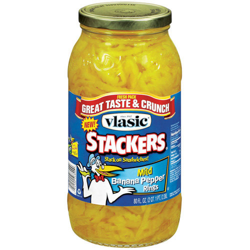 Vlasic Banana Pepper Mild Rings Stackers 80 Fl Oz Jar