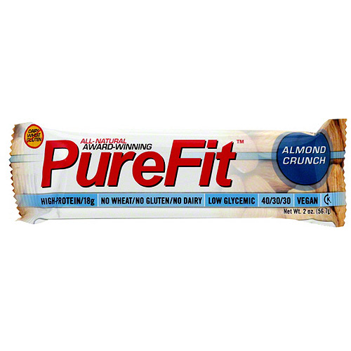 PureFit Almond Crunch Nutrition Bars, 2 oz (Pack of 15)
