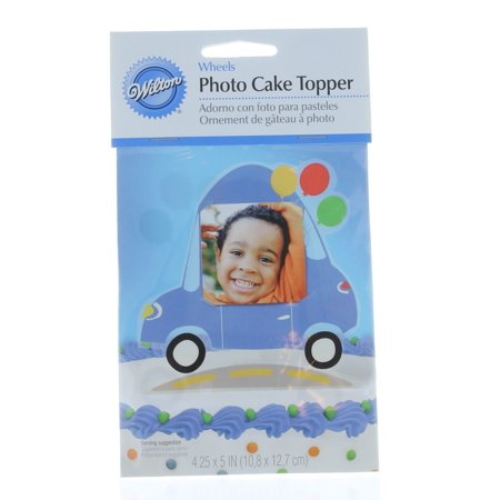 Happy Birthday Car Photo Cake Topper Wilton Great For New Drivers 4.25