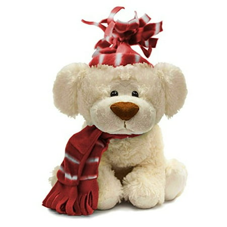 beverly hills teddy bear winter pup with red scarf and. Black Bedroom Furniture Sets. Home Design Ideas
