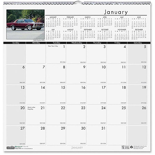 Doolittle Earthscapes Classic Cars Wall Calendar