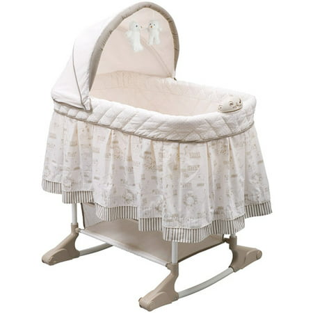 Delta Children Playtime Rocking Jungle - Care Rocking Bassinet