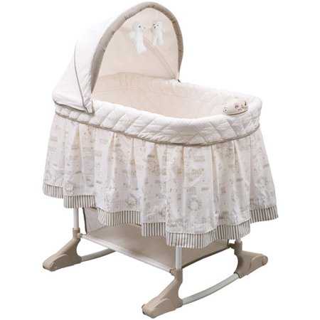 Delta Children Rocking Bassinet, Playtime Jungle (Simmons Kid Bassinet)