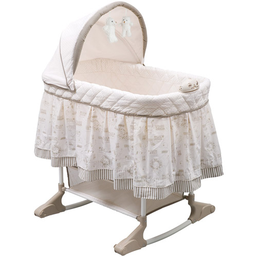 Delta Children Playtime Rocking Jungle Bassinet