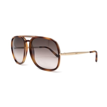 Chloe Nate Brown Gradient Aviator Ladies Sunglasses CE726S 219 60 (Chloe Aviator Sonnenbrille)