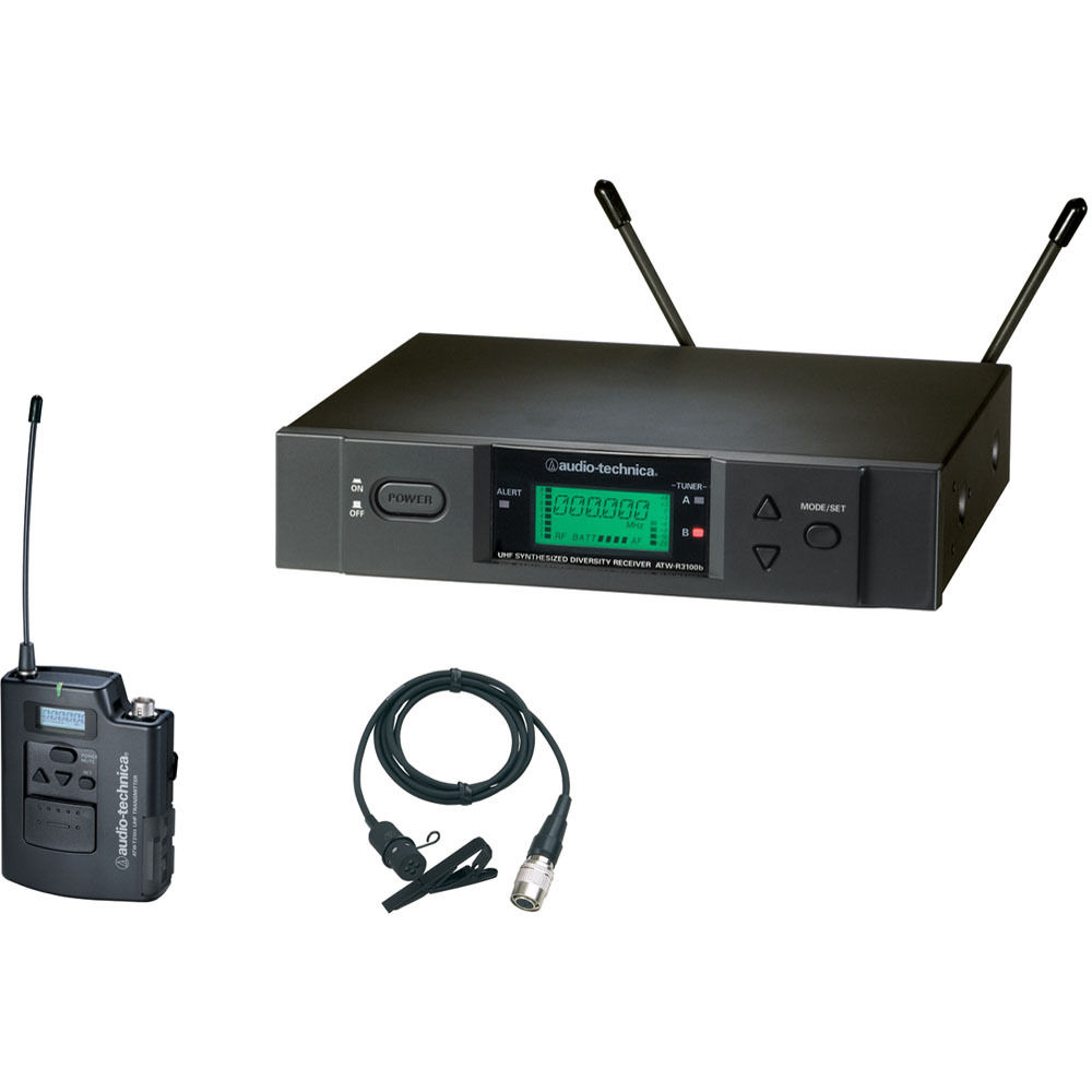Audio-Technica 3000 Series Wireless Lavalier Microphone System ATW-3131BC by Audio-Technica