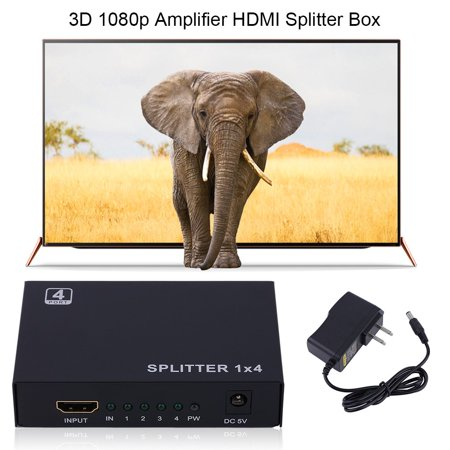 1 In 4 Out Box Hub V1 4 3D 1080P Full Hd 1X4 Port Hdmi Splitter Amplifier Repeater For Hdtv Tv Box 1 In 4 Out Converter