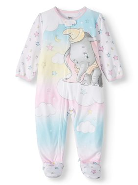 Dumbo Baby Girl Microfleece Blanket Sleeper Pajamas