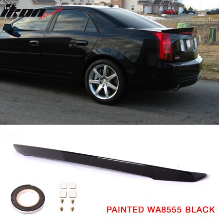 Lip Mount Spoiler - Fits 03-07 Cadillac CTS Sedan OE Style Rear Trunk Spoiler ABS Flush Mount