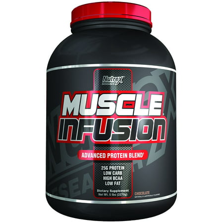 Nutrex Research Muscle Infusion Advanced Protein Blend, Chocolate, 5
