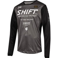 Shift Racing Wht Label Muse Youth Motocross Motocross Jersey - Smoke/Blk, All