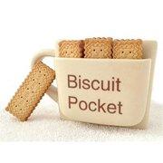 Ceramic Biscuit Pocket Coffee Mug Funny Coffee Tea Cup Cookie Holder