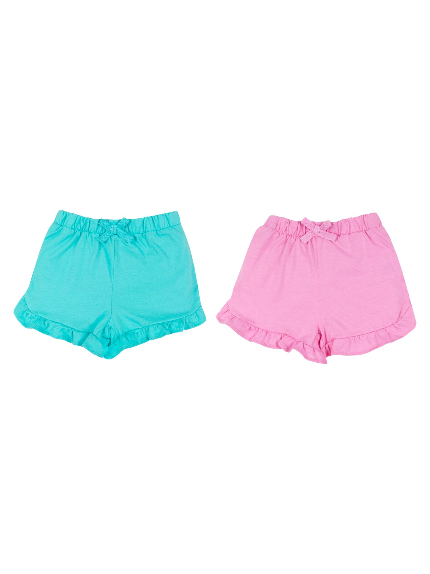 100% Organic Cotton Ruffle Knit Shorts, 2-pack (Baby Girls)