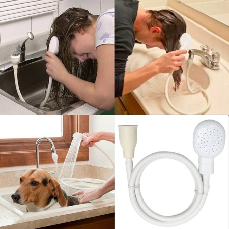 Ladylux Spray Head - Handheld Shower Head With Hose Spray Drains Strainer Bath, Hose Sink Washing Hair Pet Lave Water