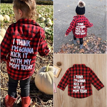 Fashion Toddler Kid Baby Boy Girl Printed Plaid Tops Long Sleeve T-shirt Clothes - Is Yoshi A Girl Or A Boy