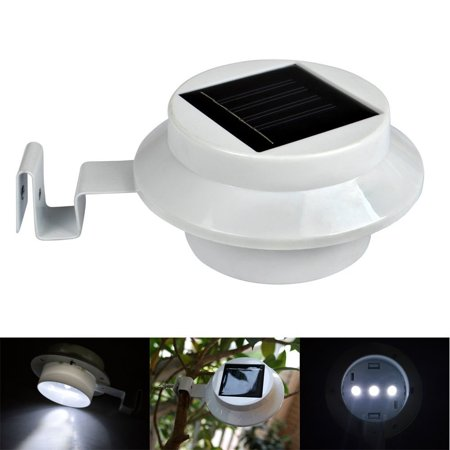 2x Outdoor Table Lamps Solar Ed Led Light Gutter Garden Fence Wall Pathway W