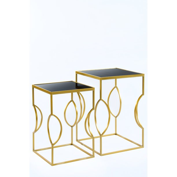 Statements by J Clemence Side Tables, Set of 2, 24 and 21 Inch