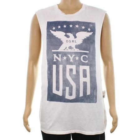 Denim & Supply by RALPH LAUREN NEW White Mens Medium M Graphic T-Shirt