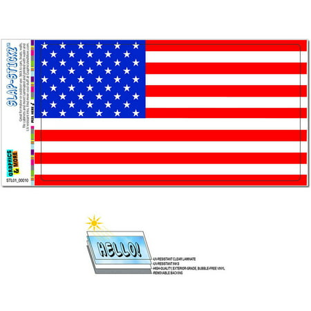 USA Flag United States American Patriotic Automotive Car Window Locker Bumper Sticker