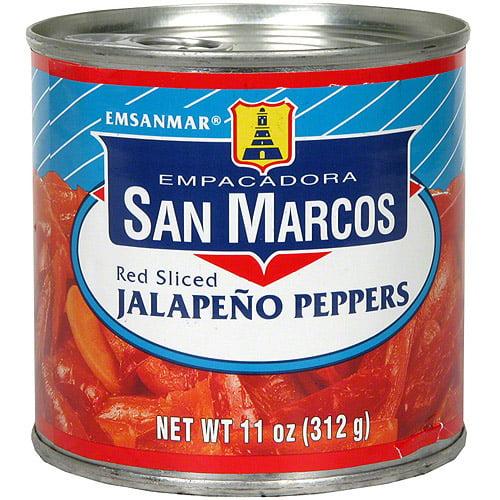 Empacadora San Marcos Red Sliced Jalapeno Peppers, 11 oz (Pack of 12)