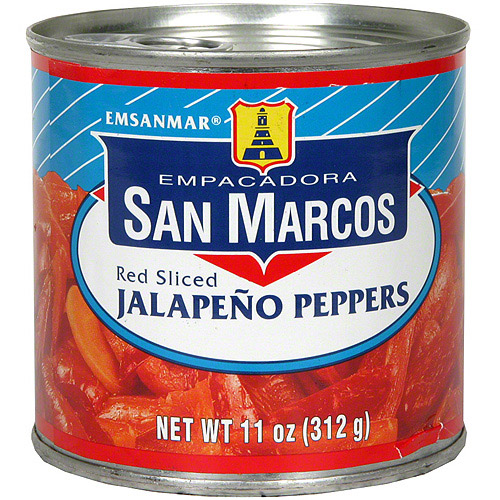 Empacadora San Marcos Red Sliced Jalapeno Peppers, 11 oz (Pack of 12)