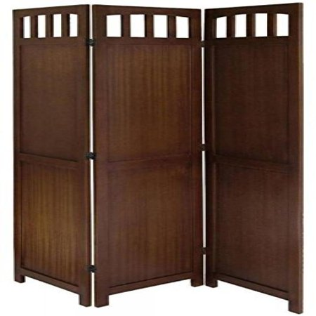 Legacy decor 3 or 4 panel solid wood room screen divider Curtains for wood paneled room