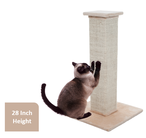 Cat Scratching Post Sisal Burlap, 28\ by Trademark Global LLC